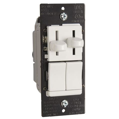 dimmer switch for fan speed shop legrand 3 speed 15 amp white indoor slide fan control