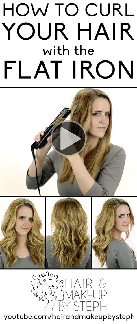 curl your hair with straighteners pin by hair and makeup by steph on hair and makeup by