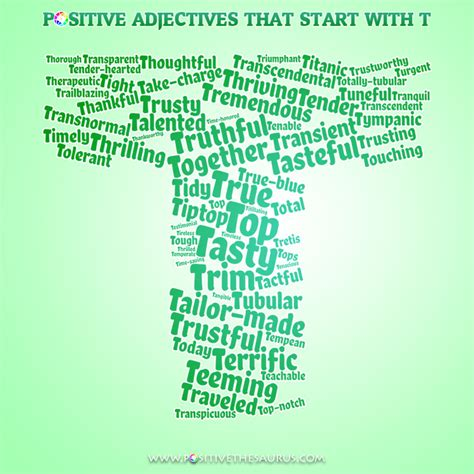 themes that start with t positive adjectives starting with t wordcloud positive