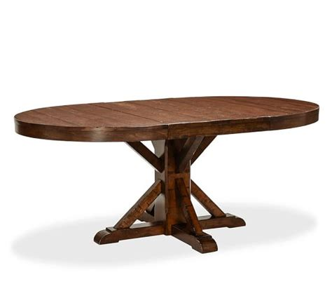 Benchwright Extending Pedestal Dining Table Pottery Barn Extending Pedestal Dining Table
