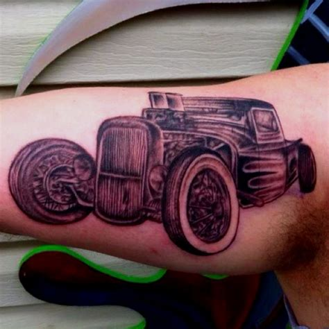 hotrod tattoo rod rod