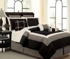 new black white gray faux silk comforter set