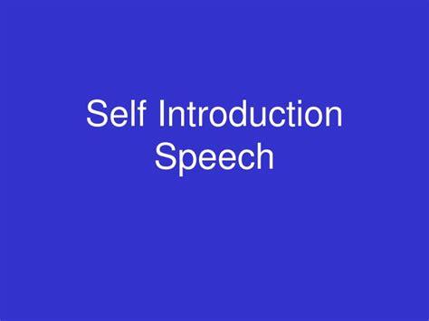 Ppt Self Introduction Speech Powerpoint Presentation Self Introduction Presentation