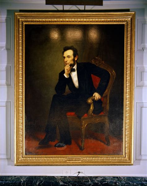 white house paint kn c18103 white house painting portrait of president abraham lincoln john f