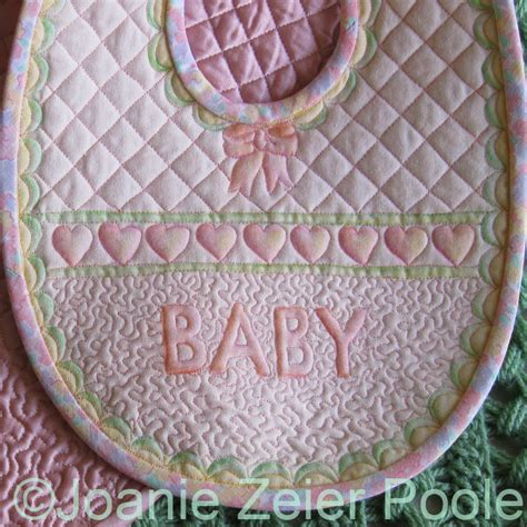 Quilted Baby Bibs Free Patterns by Joanie Zeier Poole Downloadable Keepsake Baby Bib Pattern