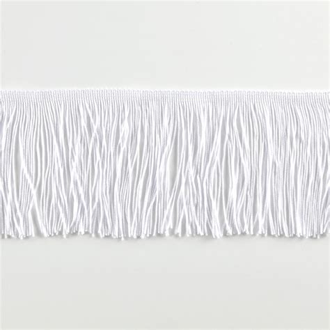 Upholstery Fringe Trim by 4 Quot Chainette Fringe Trim White Discount Designer Fabric