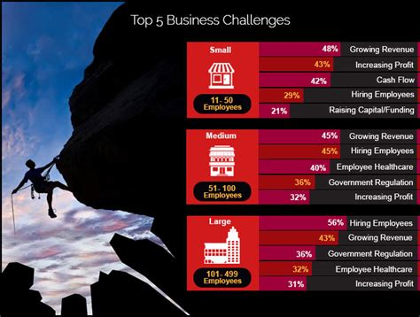 challenges that businesses top 5 challenges facing small medium and large