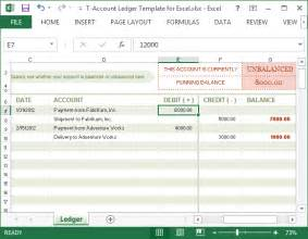 T Ledger Template by T Account Ledger Template For Excel