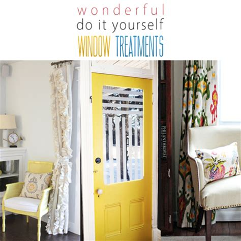 Wonderful Diy Window Treatments The Cottage Market