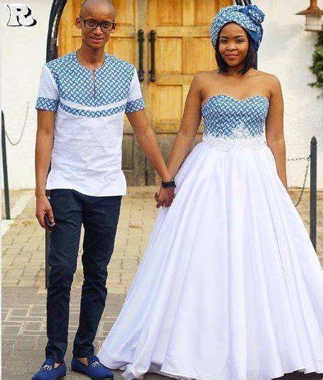 the best couples shweshwe dresses for 2018   Shweshwe