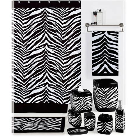 zebra shower curtain black and white zebra print shower curtain bedbathhome com