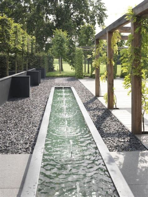 modern water features landscape design ideas modern garden water features