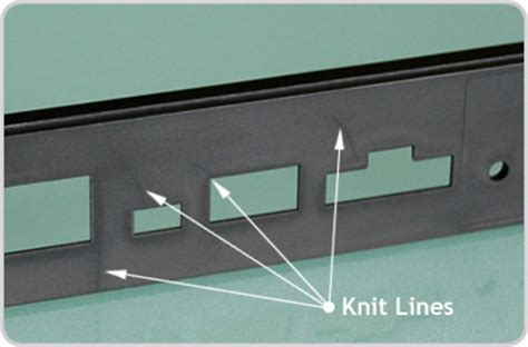 knit line how to make injection molded parts look