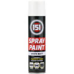 halfords halfords enamel spray paint matt white 300ml 3 x 300ml 151 white matt aerosol paint spray cars wood