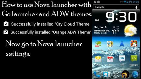 Nova Launcher Themes How To | nova launcher prime using adw and go launcher ex themes