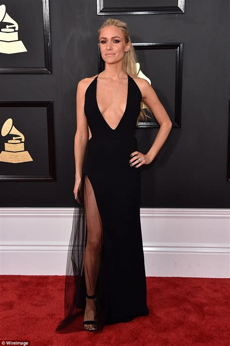 Kristin Dress grammys 2017 kristin cavallari shows bosom in black gown