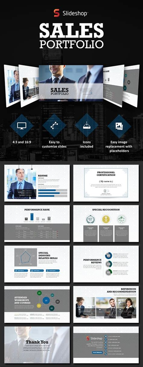 99 Best Images About Business Marketing Powerpoint Slides On Pinterest Sales Portfolio Template