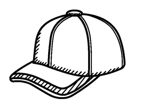 baseball cap coloring page coloring page of hat