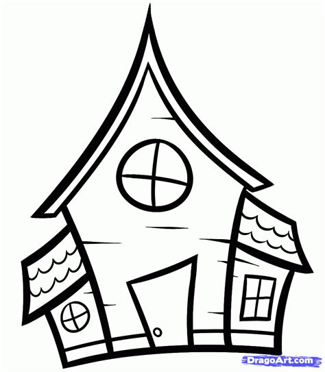 easy houses to draw how to draw a haunted house for kids step 5 halloween