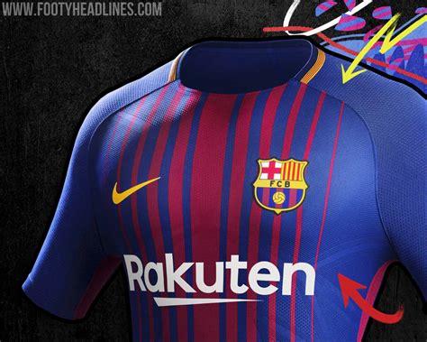 Jersey Barcelona 3rd 2017 2018 17 18 Fullset Grade Ori barcelona 17 18 home kit released footy headlines