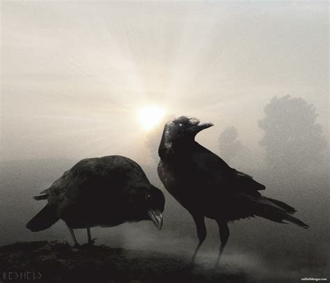 hugin and munin by jarnsaxe on deviantart
