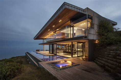 South African Kitchen Designs dazzling cliff top modern wood glass and concrete home by
