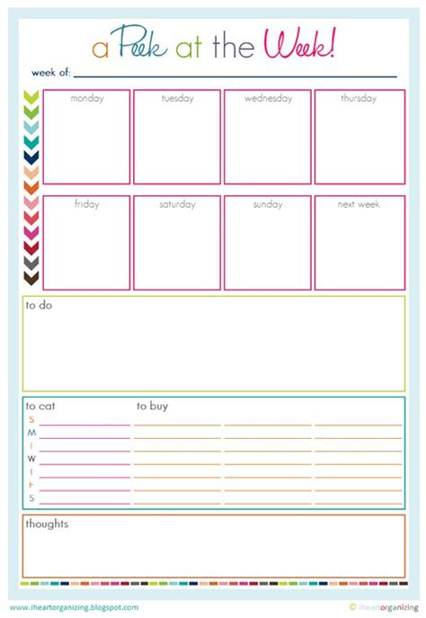 family planner printable free free organizing worksheets printables and planners