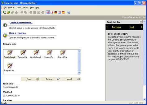 Resume Builder Software Offline Resume Builder V4 7 German Etc For Seekers Gsm Forum
