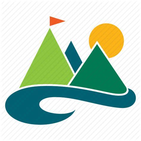 Landscape Icon Landscape Mountain Nature Outdoor River Tourism
