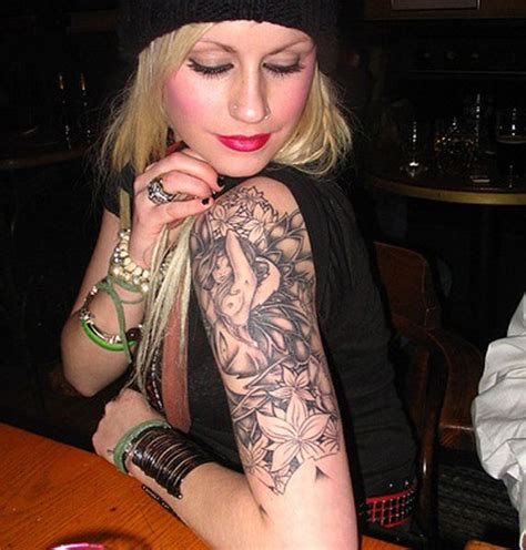 female upper arm tattoo designs arm for meaning pictures tattooing