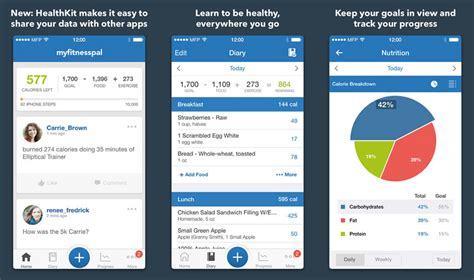 my fitness pal app for android fitness dietary app myfitnesspal gets healthkit support mactrast