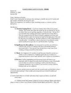 Persuasive Essay Outline Sample Pics Photos Persuasive Speech Outline