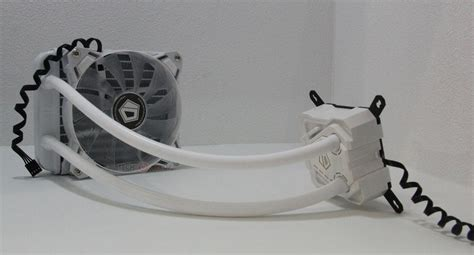 Id Cooling Se 214l W Cpu Cooler White Led id cooling unveils the icekimo 120 white aio liquid cpu
