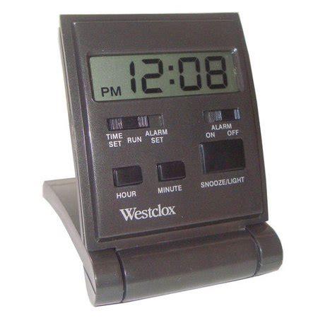 westclox travel lcd alarm clock walmartcom