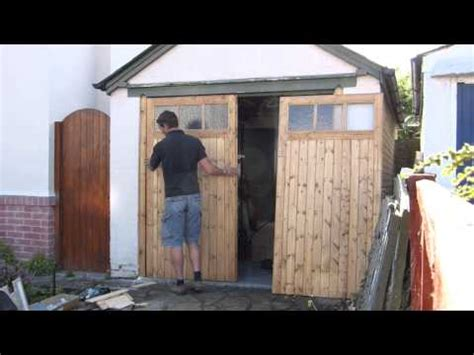 how to build swing out garage doors how to build a swing out garage door doovi