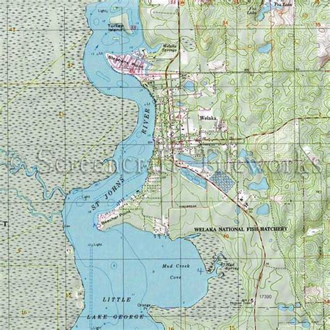 Home Furnishings Decor Florida Welaka St Johns River Nautical Chart Decor