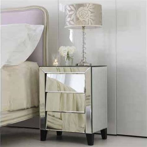 mirror side tables bedroom 10 classy mirrored bedside table designs rilane pertaining