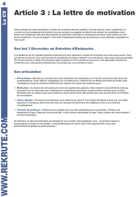Lettre De Motivation Ecole Rh Livret Conseil Rh Rekrutre