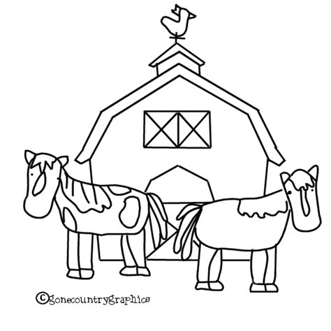 horse barn coloring page free coloring pages of barns