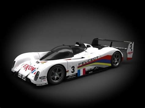 peugeot sports models peugeot talbot sport 905 evo 1c 1993 3d model cgtrader