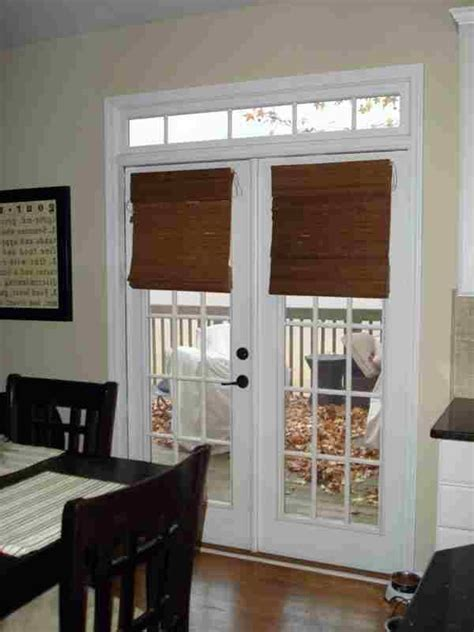 Bamboo blinds, French doors and Bamboo on Pinterest