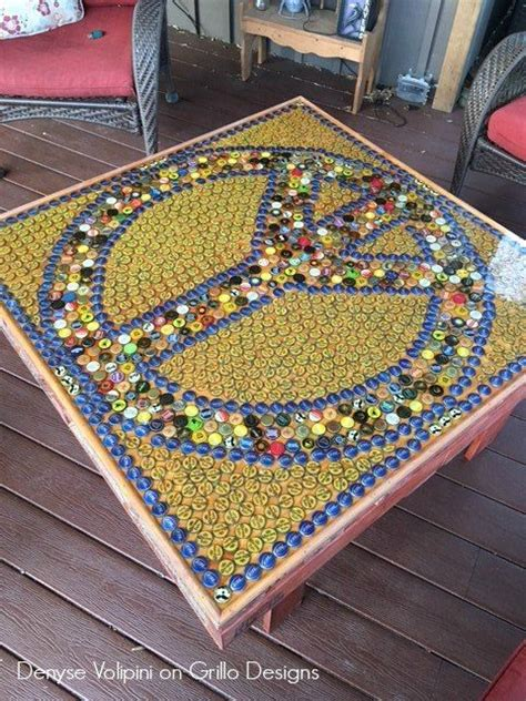 Bottle Top Table by 25 Best Ideas About Bottle Cap Table On