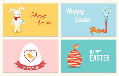 Flat Photo Card Template by Flat Easter Greeting Cards Card Templates On Creative Market