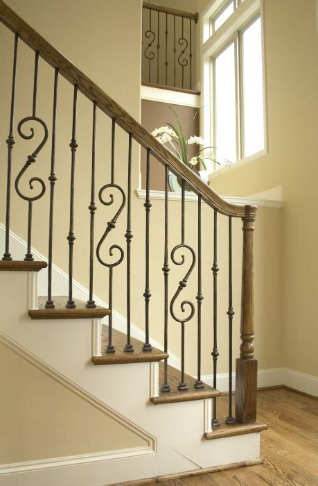 wrought iron stair railing metal banisters and handrails iron stair railing