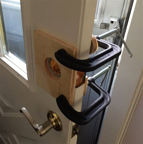 Install Deadbolt Metal Door by Enlarging A Deadbolt Door Knob On A Steel Door Home