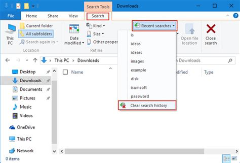 Clear Search How To Clear Or Disable File Explorer Search History In Windows 10 Isumsoft