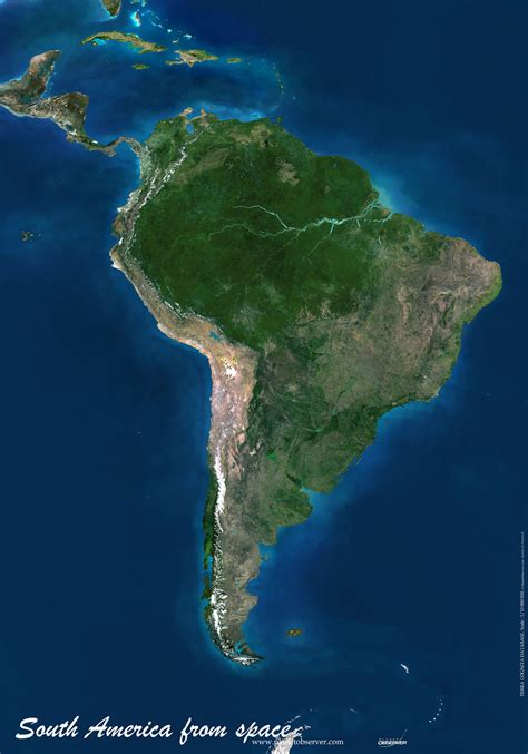 america map satellite south america map or map of south america