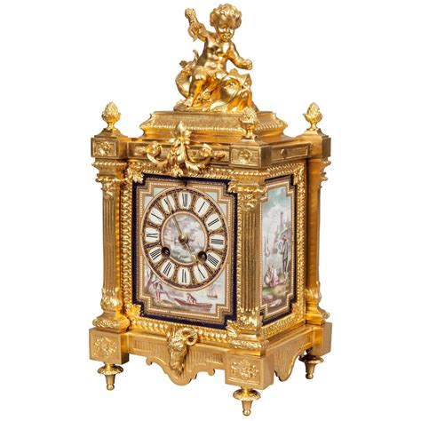 an antique table clock in the louis xvi manner by japy