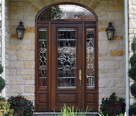 bell stained glass fiberglass  wood doors sheer elegance