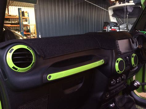 jeep wrangler custom interior jeep wrangler jk 4 door interior trim kit gecko green